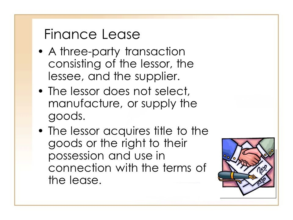 a lessor is a party who acquires a right to the possession and use of goods under a lease.-0