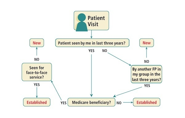 an established patient is defined as one who has seen the provider within the last-0
