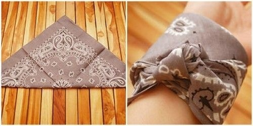 how to tie a bandana around your wrist-1