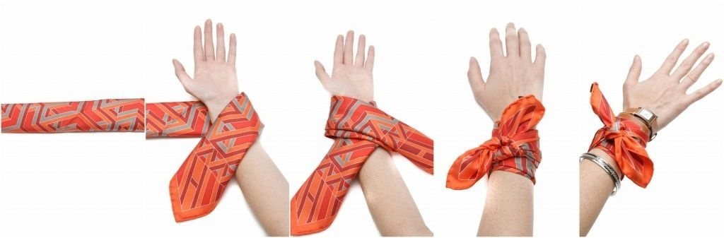 how to tie a bandana around your wrist-2