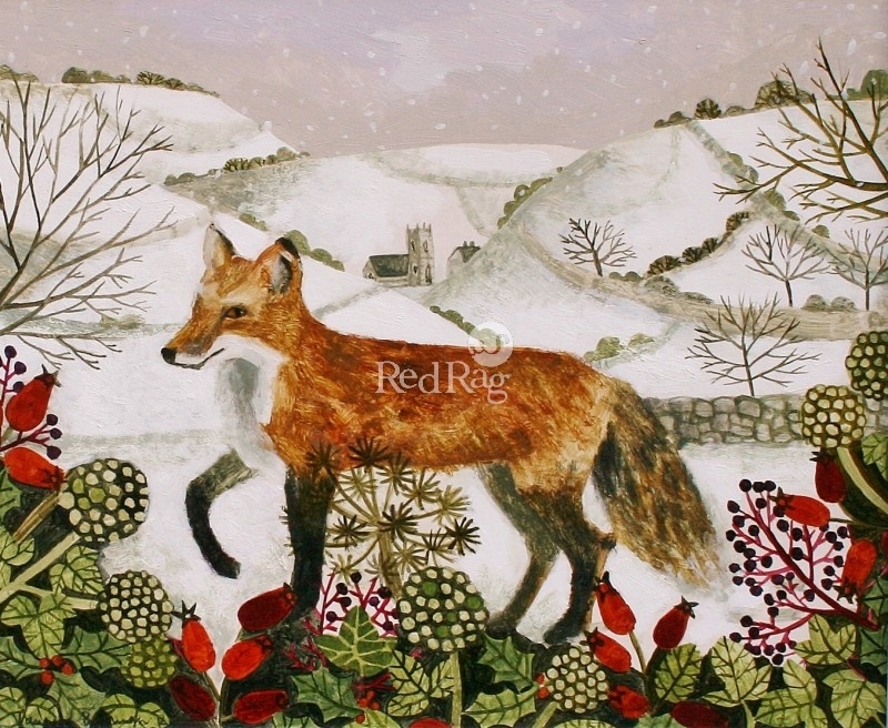 who is the artist of fox in the snow?-1