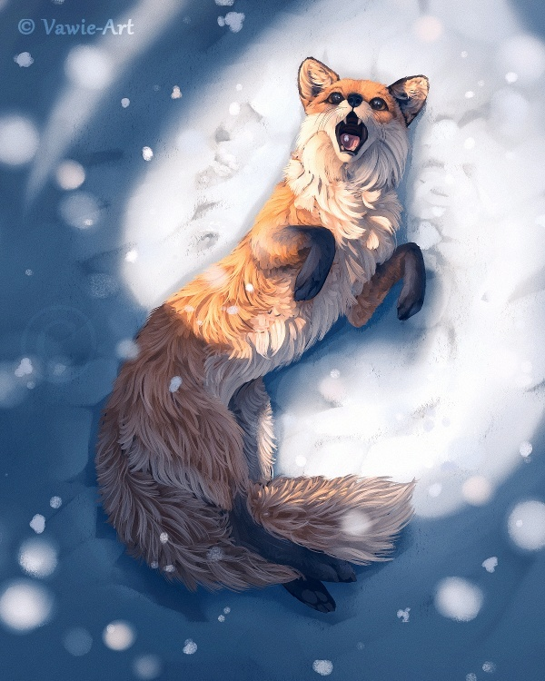 who is the artist of fox in the snow?-2
