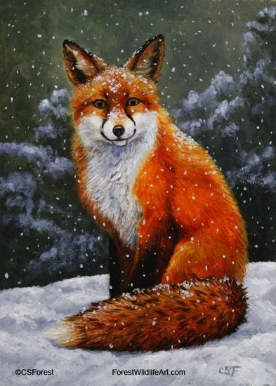 who is the artist of fox in the snow?-4